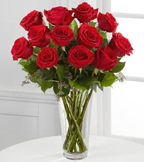 A Perfect Red or white Dozen Roses