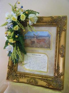Inspirational Frame with Floral Tribute