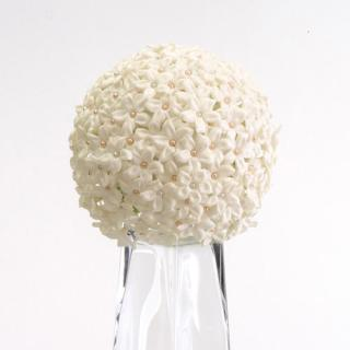 Stephanotis and Pearl Sphere