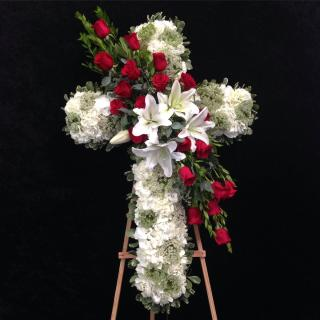 Cross Tribute with Lilies