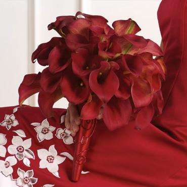 Red Calla Lily Bridal Bouquet