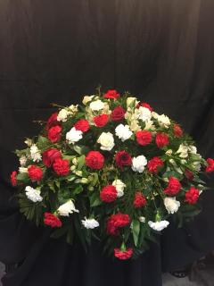 Red and White Casket Piece