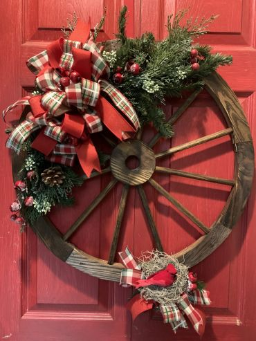 Country Door Wreath