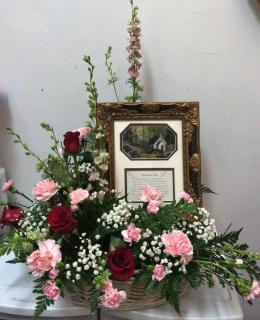 Inspirational Frame with Fresh Flowers