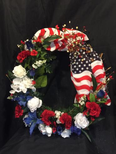 Patriotic tribute sympathy wreath