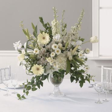 Wonderous White Reception Centerpiece