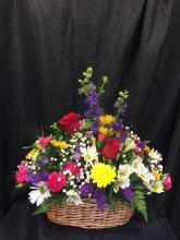 Mixed Fresh Flower Basket