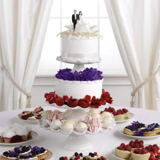 Tiered Cake and Pastry Stand (cake stand not included)