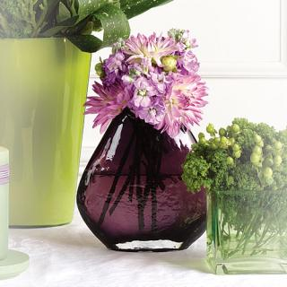Purple Vase Altar Arrangement